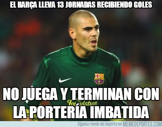 96926 - El Barça lleva 13 jornadas recibiendo goles