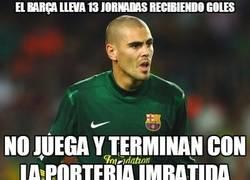 Enlace a El Barça lleva 13 jornadas recibiendo goles