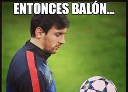 Enlace a Entonces balón...