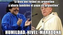 Enlace a Maradona, siempre tan humilde