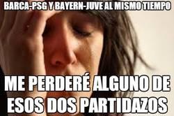 Enlace a Barca-Psg y Bayern-Juve al mismo tiempo