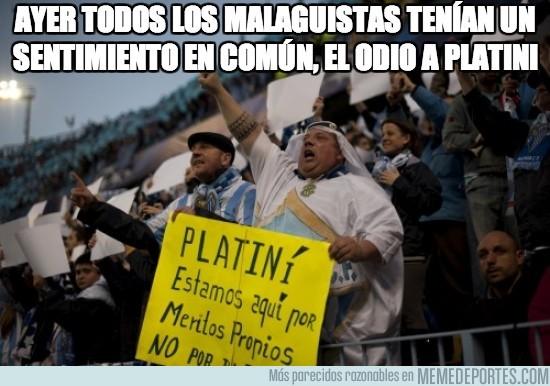 110458 - Odio a Platini en Málaga