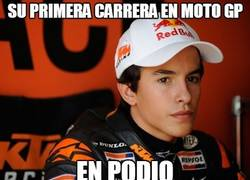 Enlace a Su primera carrera en Moto GP