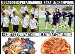 Enlace a Preparando la Champions