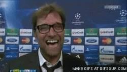 Enlace a GIF: La reacción de Jürgen Klopp después del partido de Borussia Dortmund