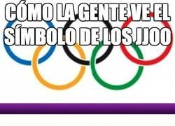 Enlace a Cómo la gente ve el símbolo de las olimpiadas