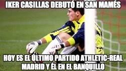 Enlace a Iker Casillas debutó en San Mamés