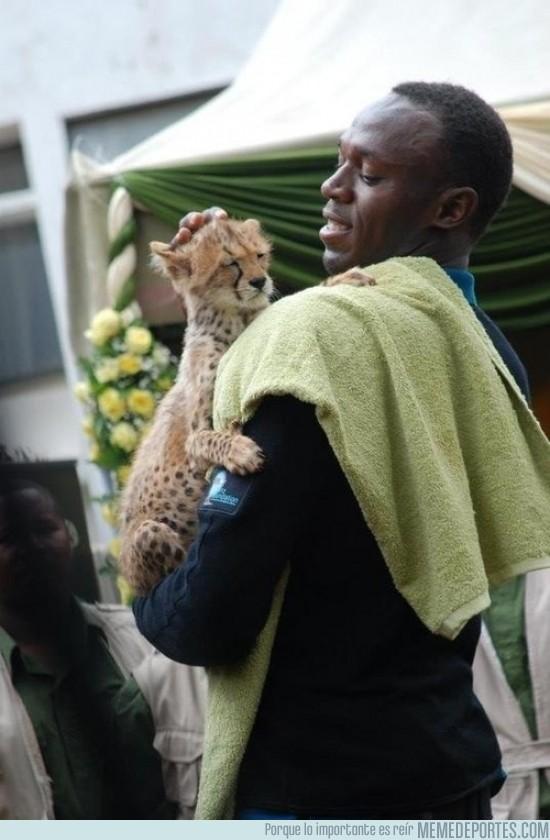 116699 - Usain Bolt y su hijo pequeño
