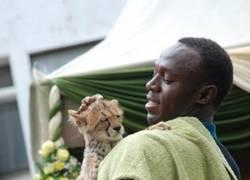 Enlace a Usain Bolt y su hijo pequeño