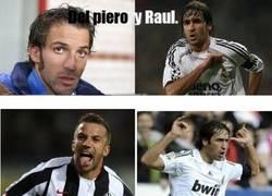 Enlace a Del Piero y Raul, parecidos razonables
