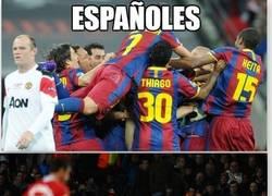 Enlace a Españoles, pesadilla del United