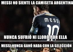Enlace a Messi, el peor jugador del mundo