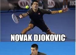 Enlace a Djokovic, el contorsionista