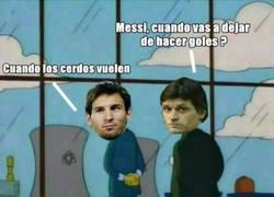 Enlace a Messi se resiste a dejar de hacer goles