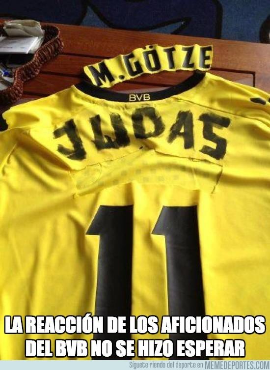 119184 - La reacción de los aficionados del Borussia no se hizo esperar