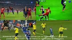Enlace a Nueva regla de la UEFA