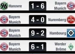 Enlace a Últimos 10 partidos del Bayern, el 4-0 es entendible