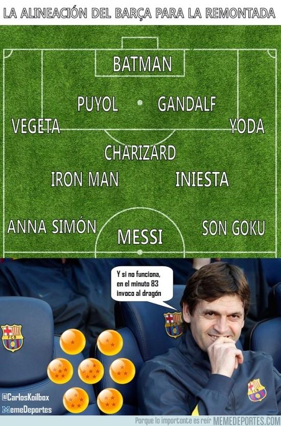 122326 - Mi alineación del Barça para la remontada
