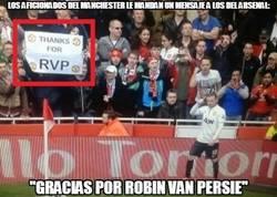 Enlace a Mensaje de los fans del United a los del Arsenal