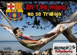 Enlace a Feliz día del trabajo de parte de Messi