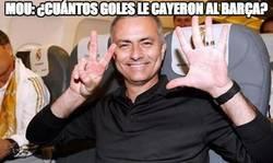Enlace a Mou: ¿cuántos goles le cayeron al Barça?