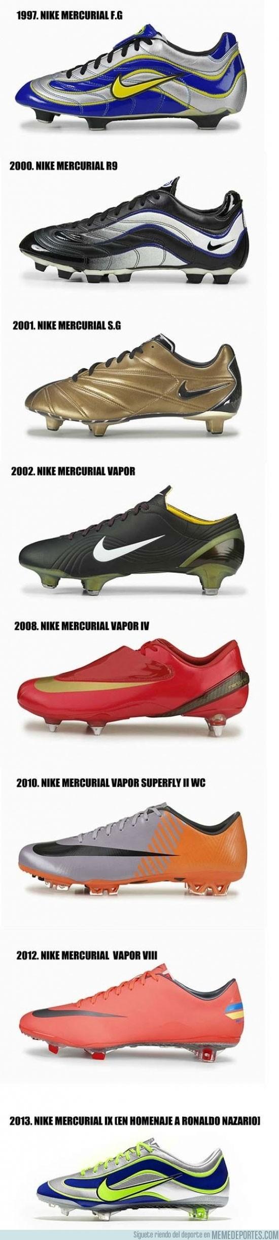 126656 - 15 años del Mercurial de Nike. Su evolución