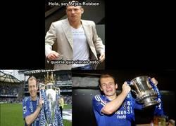 Enlace a Robben callando bocas