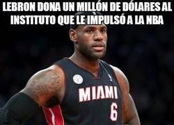 Enlace a LeBron dona un millón de dólares al instituto que le impulsó a la NBA