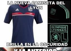 Enlace a La anterior camiseta de Lyon también tenia una curiosidad
