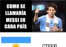 Enlace a Cómo se llamaría Messi en cada país