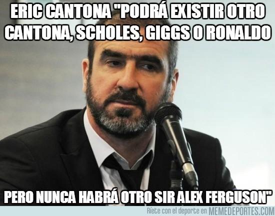 129162 - Eric Cantona acerca de Ferguson