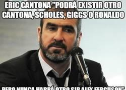 Enlace a Eric Cantona acerca de Ferguson