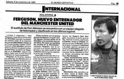 Enlace a Documento histórico: Alex Ferguson, nuevo entrenador del Manchester United