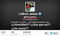Enlace a LeBron James, pura humildad