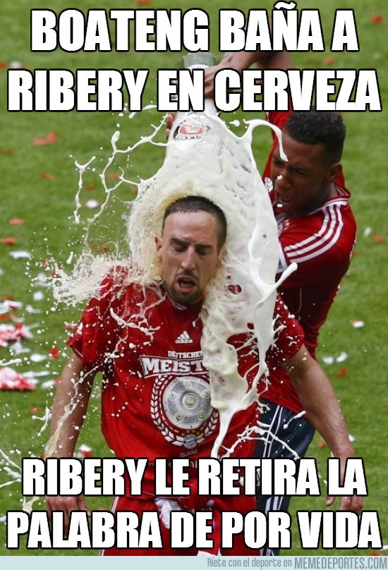 131837 - Boateng baña a Ribery en cerveza