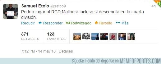 132364 - ¡Eto'o todo un crack! Amor eterno al Mallorca