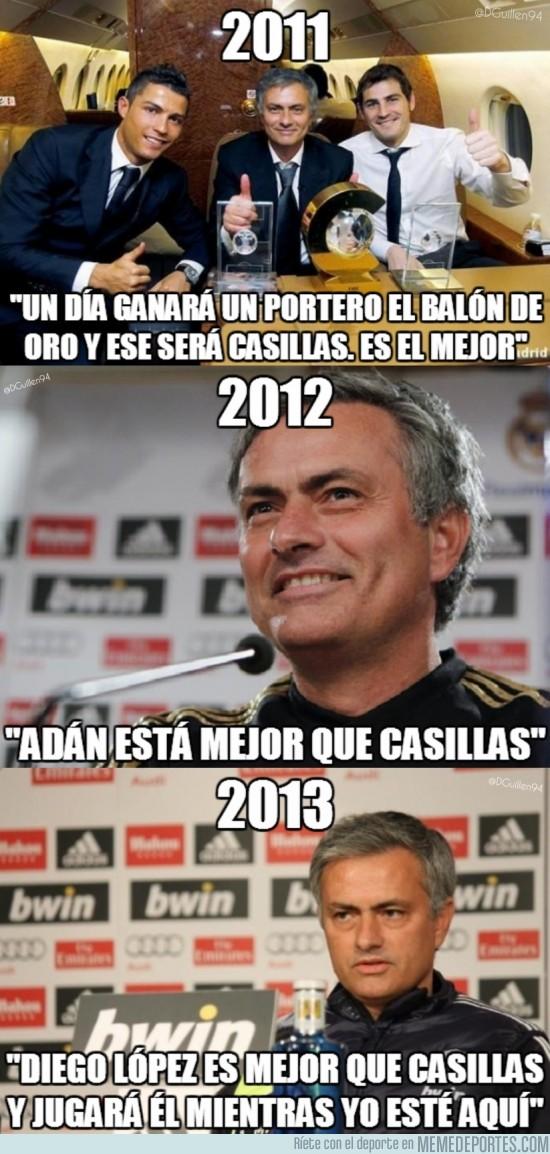 132614 - Mourinho y su evolución con Casillas en 3 años