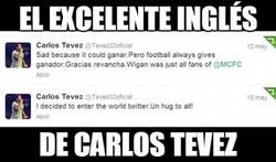 Enlace a Tévez, un crack del inglés