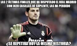 Enlace a Las 2 últimas finales que ha disputado el Real Madrid con Iker Casillas de suplente, las ha perdido