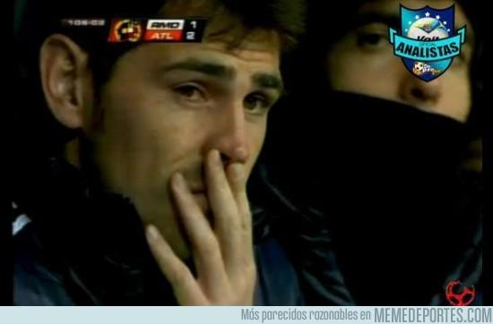 134133 - Iker suelta lágrimas tras ver el segundo gol del Atlético