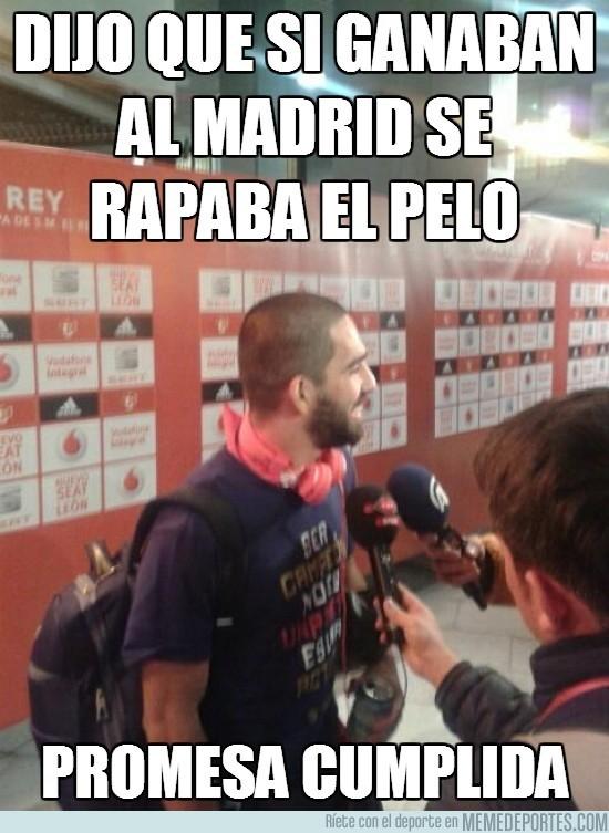 134404 - Dijo que si ganaban al Madrid se rapaba el pelo