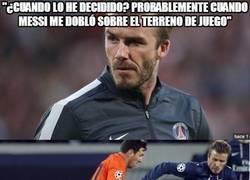 Enlace a ¿Messi provocó la retirada de Beckham?