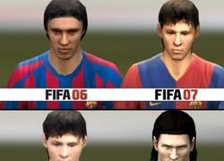 Enlace a Lionel Messi desde FIFA 6 a 13