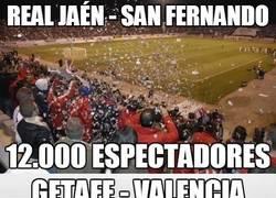 Enlace a El doble de gente en Jaén-San Fernando que en el Getafe-Valenicia