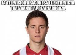 Enlace a La televisión aragonesa le entrevista tras ganar al Real Zaragoza
