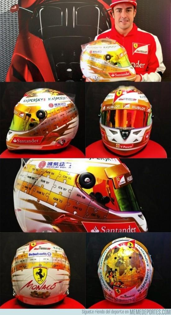 137077 - Éste es el casco que usará Alonso en Mónaco