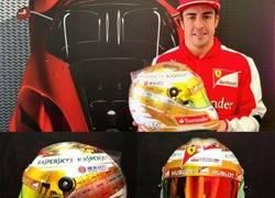Enlace a Éste es el casco que usará Alonso en Mónaco