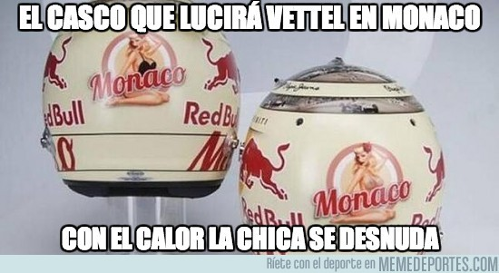 137576 - El casco que lucirá Vettel en Monaco