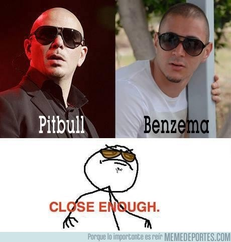 137838 - Benzema y Pitbull, close enough