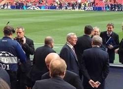 Enlace a Mirad quién no quiso perderse anoche la gran final de Champions, Sir Alex Ferguson